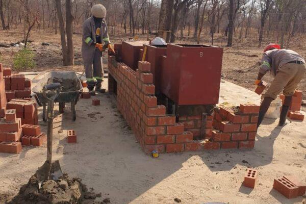22nd October 2019 - Mwandi Mini Hospital Site, Incinerator Construction